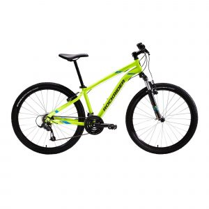 Rockrider Mountainbike ST 100 3x7 speed microshift/shimano geel
