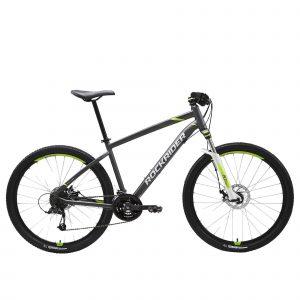 "Rockrider Mountainbike ST 520 27.5"" 3x8 speed microshift/shimano grijs/geel"