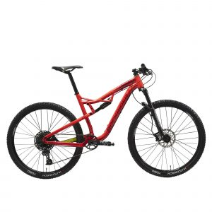 "Rockrider Cross country mountainbike XC 100 S 29"" Eagle rood/geel"