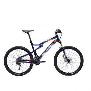 "Rockrider Mountainbike full suspension ST 540 S 27.5"" 2x9 speed microshift/shimano blauw"