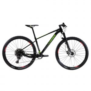 "ROCKRIDER Cross country mountainbike XC 100 29"" 12S zwart/fluo"