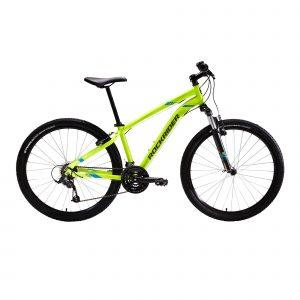 Mountainbike st 100 3x7 speed microshift/shimano geel