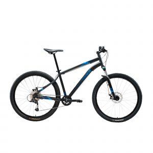 """Mountainbike st 120 27.5"""" 1x9 speed rockrider/microshift zwart/blauw"""