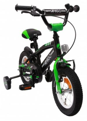 AMIGO BMX Fun 12 Inch 21 cm Jongens Terugtraprem Groen/Matzwart